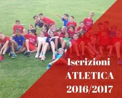 Atletica Leggera: iscrizioni 2016/2017